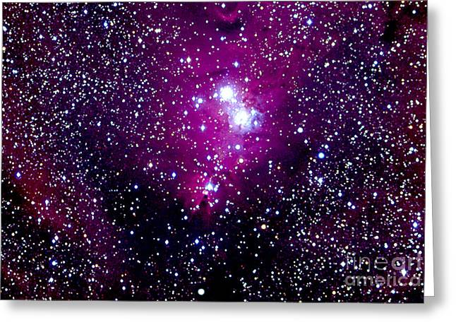 Monoceros Greeting Cards - Christmas Tree Cluster And Cone Nebula Greeting Card by John Chumack