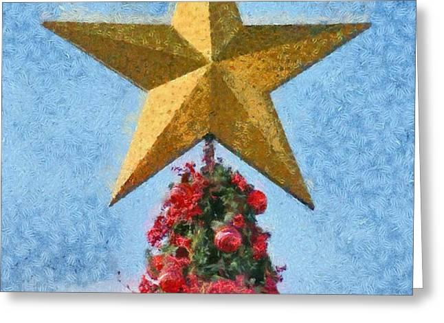 Christmas tree Greeting Card by George Atsametakis