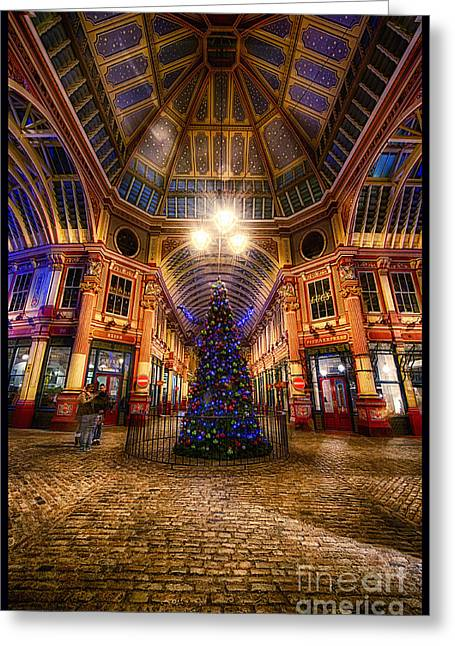 D700 Greeting Cards - Christmas Tree Leadenhall London I Greeting Card by Jack Torcello