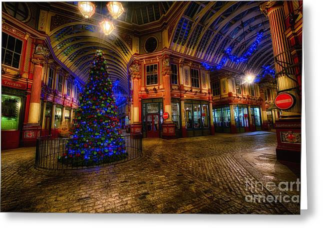 D700 Greeting Cards - Christmas Tree HDR 03 cool Greeting Card by Jack Torcello