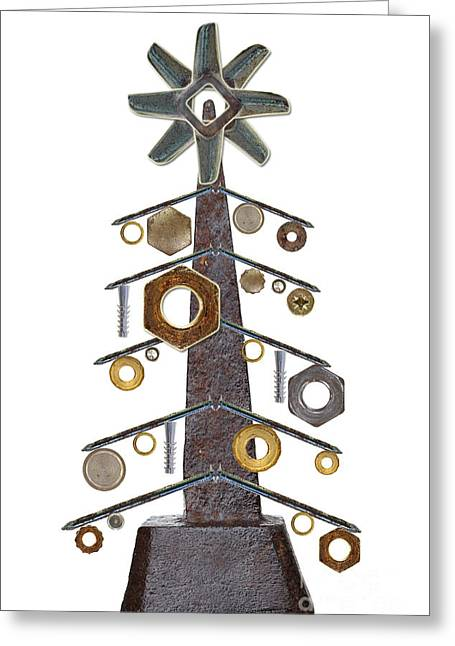 Component Digital Art Greeting Cards - Christmas tree Greeting Card by Michal Boubin