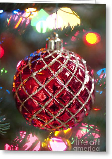Festivities Greeting Cards - Christmas Tree Ornament Greeting Card by Jim Corwin
