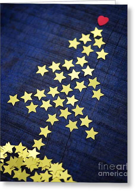 Merry Christmas Photographs Greeting Cards - Christmas Tree Stars Greeting Card by Tim Gainey