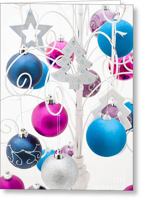 Coloured Greeting Cards - Christmas Tree Tree Greeting Card by Anne Gilbert