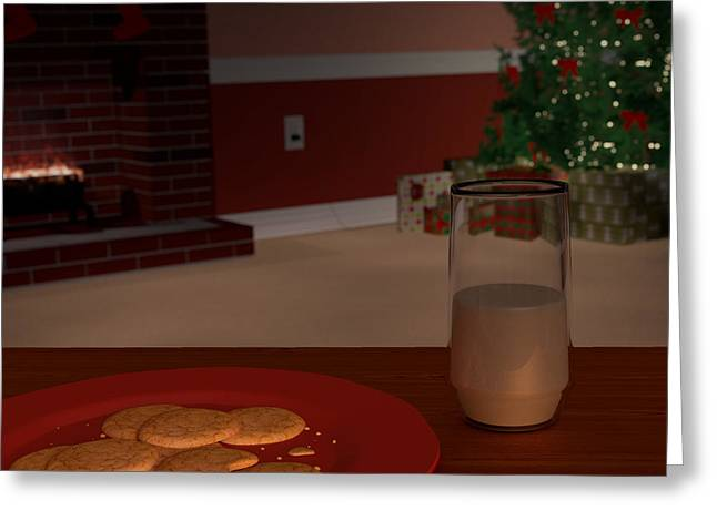 Festivities Digital Art Greeting Cards - Christmas Visitor Greeting Card by James Drake