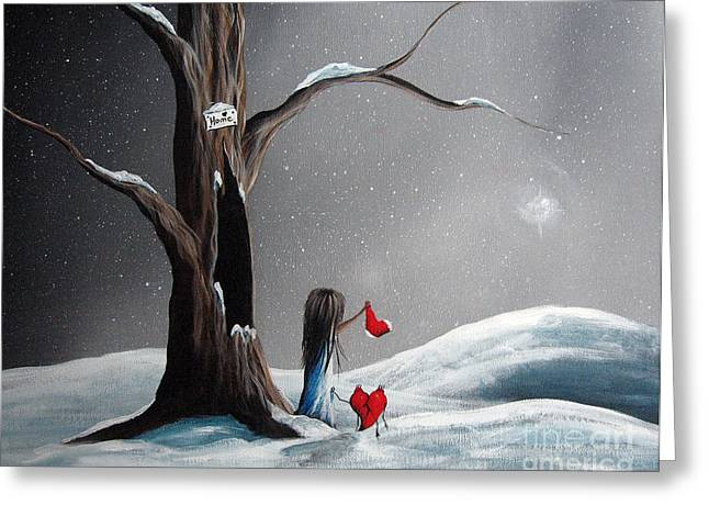 Sympathy Paintings Greeting Cards - Christmas Wishes by Shawna Erback Greeting Card by Shawna Erback