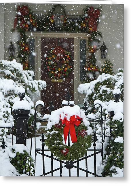 Christmas Wreaths And A Rare Holiday Greeting Card by William Sutton