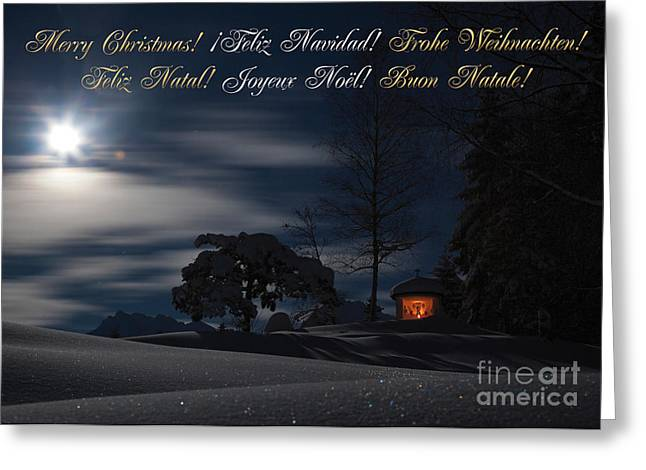 Frohe Greeting Cards - Christmascard Greeting Card by Fabian Roessler
