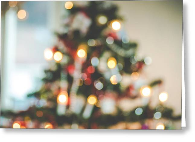 Kjona Greeting Cards - Christmastree Greeting Card by Mirra Photography