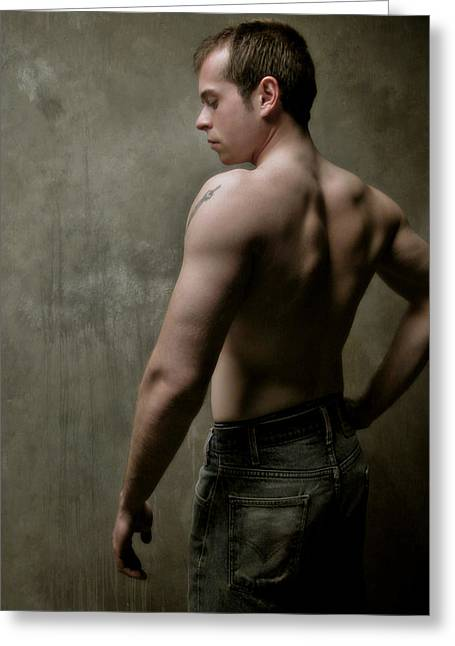 Male Torso Greeting Cards - Christopher 5 Greeting Card by Dave Milstead