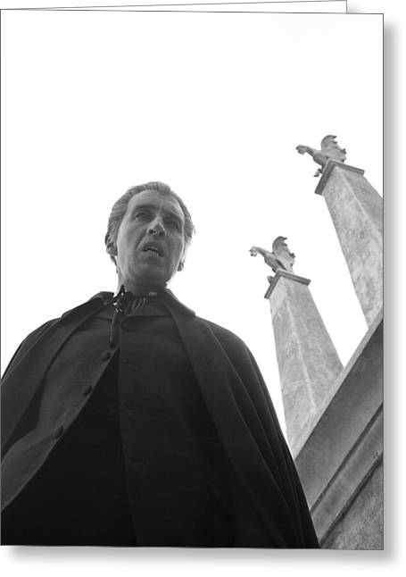 Dracula Greeting Cards - Christopher Lee in Dracula: Prince of Darkness  Greeting Card by Silver Screen