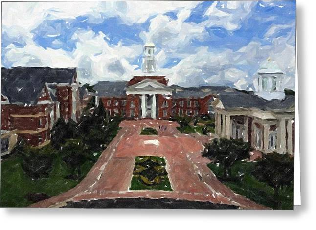 Duke Pastels Greeting Cards - Christopher Newport University Greeting Card by Olde Time  Mercantile