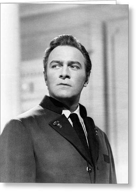 Musical Film Photographs Greeting Cards - Christopher Plummer in The Sound of Music  Greeting Card by Silver Screen