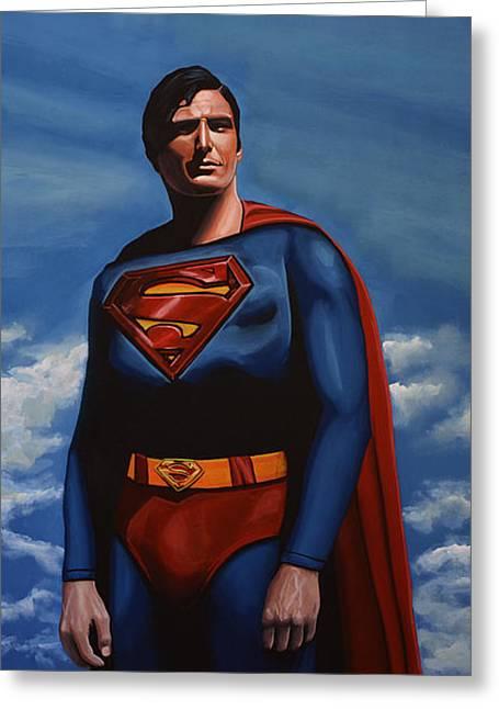 Batman Greeting Cards - Christopher Reeve as Superman Greeting Card by Paul Meijering
