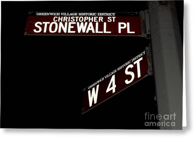 Recently Sold -  - Liberation Greeting Cards - Christopher St-stonewall Pl Greeting Card by Ed Weidman