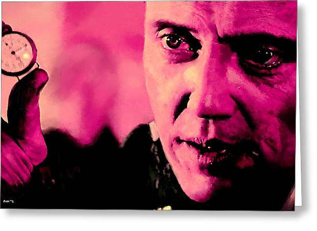 Recently Sold -  - Tablets Greeting Cards - Christopher Walken @ Pulp Fiction Greeting Card by Gabriel T Toro
