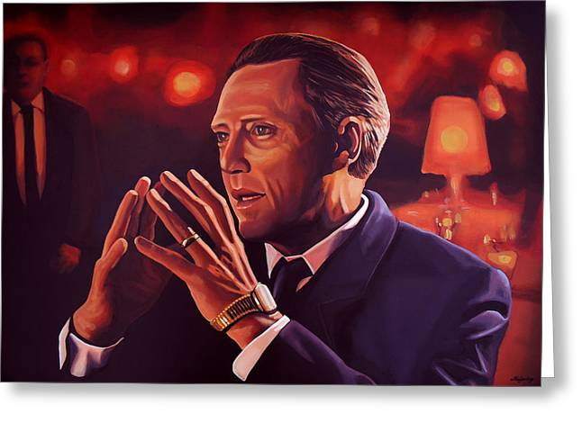 Christopher Walken Painting Greeting Card by Paul Meijering