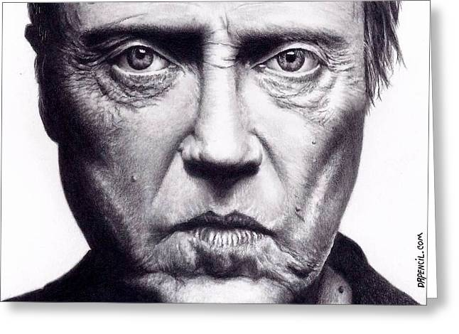 Christopher Walken Greeting Card by Rick Fortson