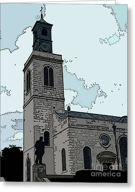 Fulton Greeting Cards - Christopher Wren Church Greeting Card by David Bearden