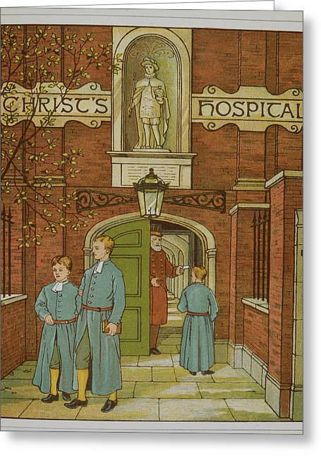 Christ's Hospital Greeting Card by British Library