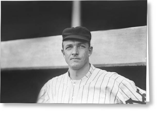 Famous Photographer Greeting Cards - Christy Mathewson Close Up Greeting Card by Retro Images Archive
