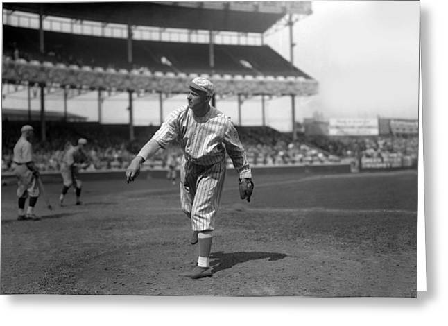 Hall Of Fame Greeting Cards - Christy Mathewson Follow Through Greeting Card by Retro Images Archive