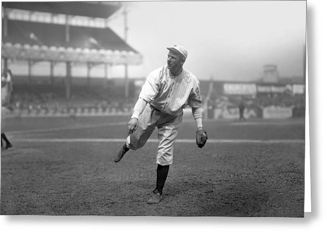 Historical Pictures Greeting Cards - Christy Mathewson Pitching Greeting Card by Retro Images Archive