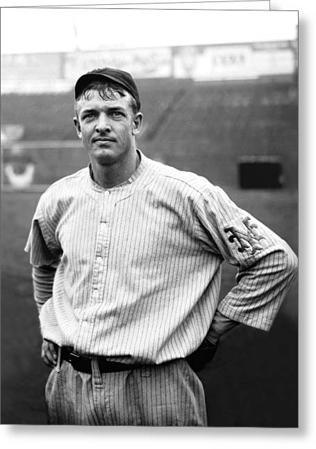 Famous Photographer Greeting Cards - Christy Mathewson Ready To Throw Greeting Card by Retro Images Archive