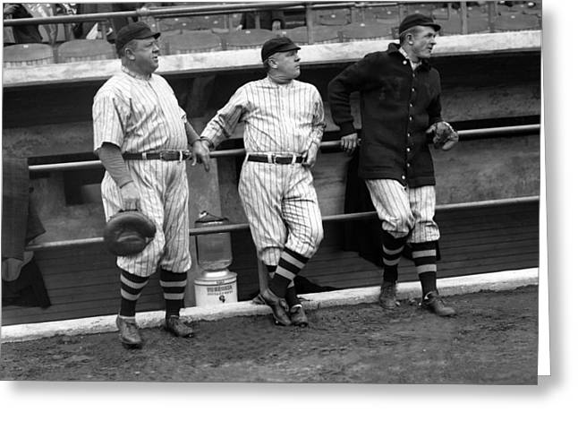 Christy Mathewson Greeting Cards - Christy Mathewson Greeting Card by Retro Images Archive