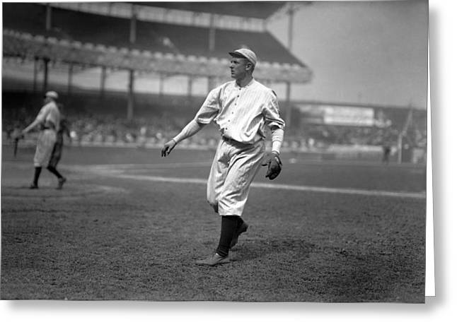 Hall Of Fame Greeting Cards - Christy Mathewson Throwing Greeting Card by Retro Images Archive