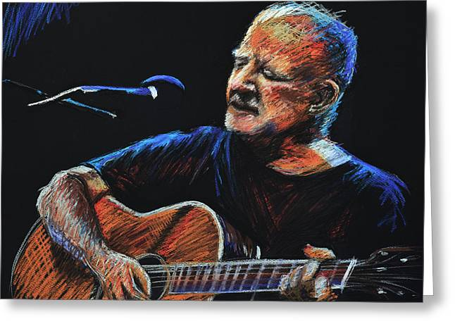 Irish Folk Music Greeting Cards - Christy Moore Greeting Card by Melissa O