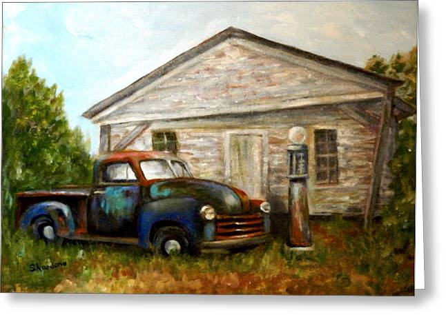 Classic Pickup Paintings Greeting Cards - Chromatic Chevy Greeting Card by Sandra Nardone