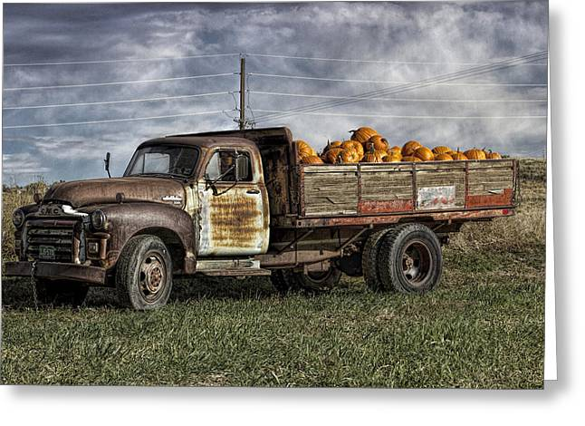 Rusted Cars Greeting Cards - Chromatic Shipment Greeting Card by Becca Buecher