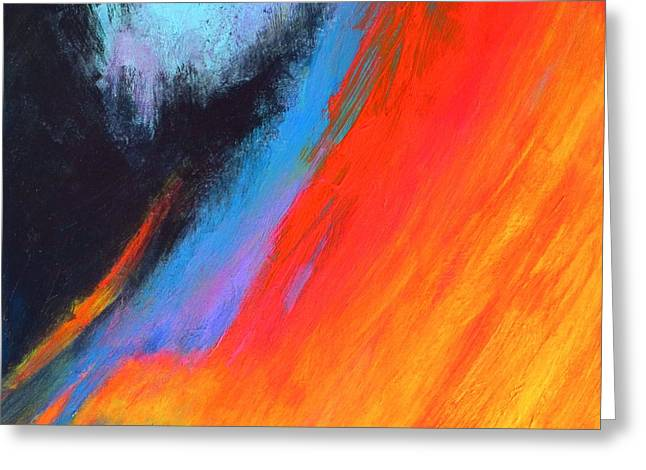 Chromatic Paintings Greeting Cards - Chromatic Vibrations Abstract Series Greeting Card by Robert Birkenes