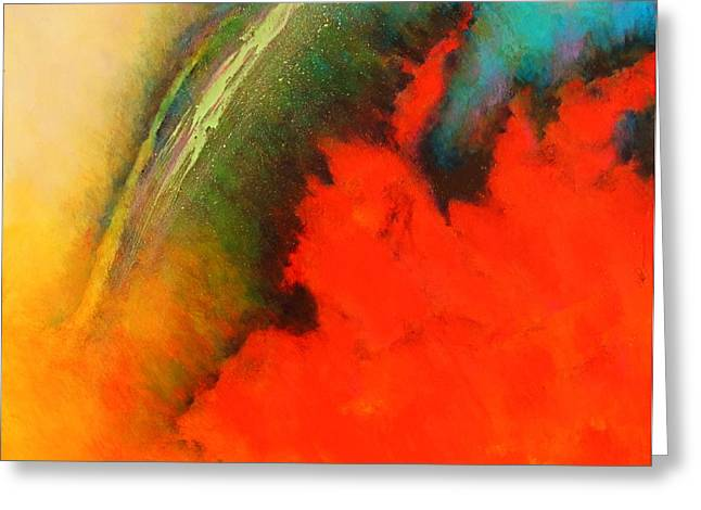 Chromatic Paintings Greeting Cards - Chromatic Vibrations Series Painting Greeting Card by Robert Birkenes