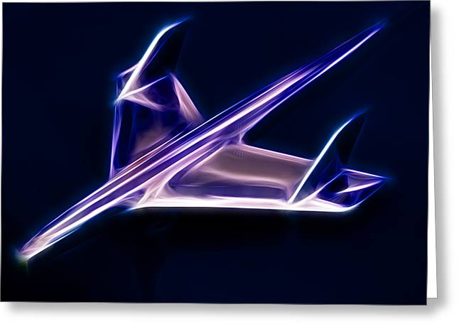Phil Motography Clark Greeting Cards - Chrome Jet Greeting Card by Phil