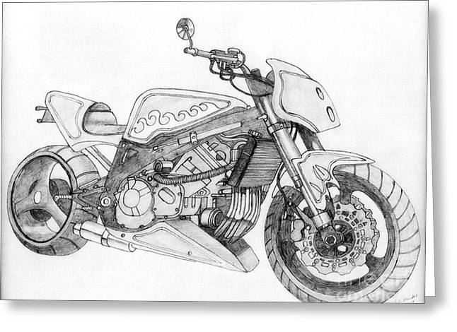 Camshaft Greeting Cards - Chrome plaything Greeting Card by Stephen Brooks