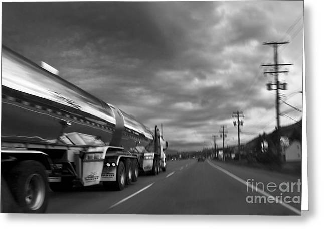 Canadian Photographer Greeting Cards - Chrome Tanker Greeting Card by Theresa Tahara