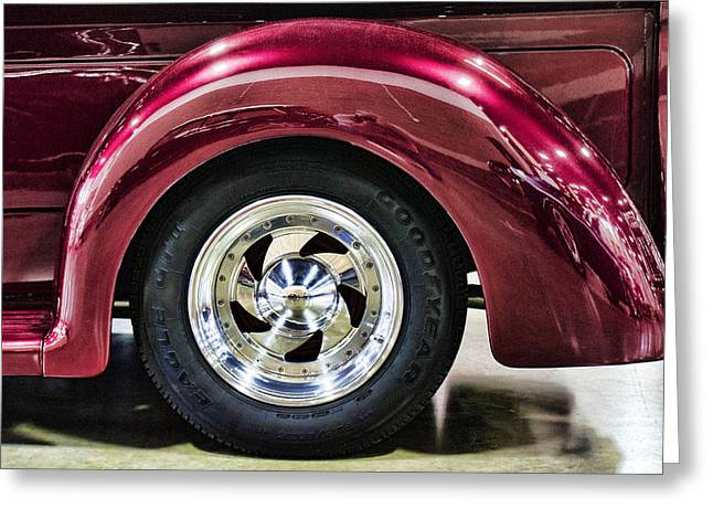 Ron Roberts Photography Photographs Greeting Cards - Chrome Wheel Greeting Card by Ron Roberts