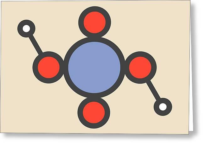 Chromic Acid Molecule Greeting Card by Molekuul