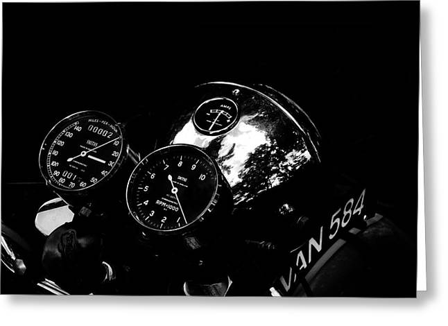 Motorcycles Greeting Cards - Chronometric Greeting Card by Mark Rogan