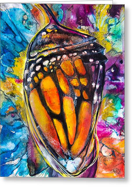 Transformations Paintings Greeting Cards - Chrysalis Greeting Card by Patricia Allingham Carlson