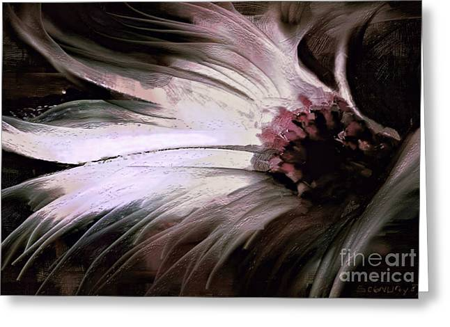 Muted Palette Greeting Cards - Chrysanth Greeting Card by Shanina Conway