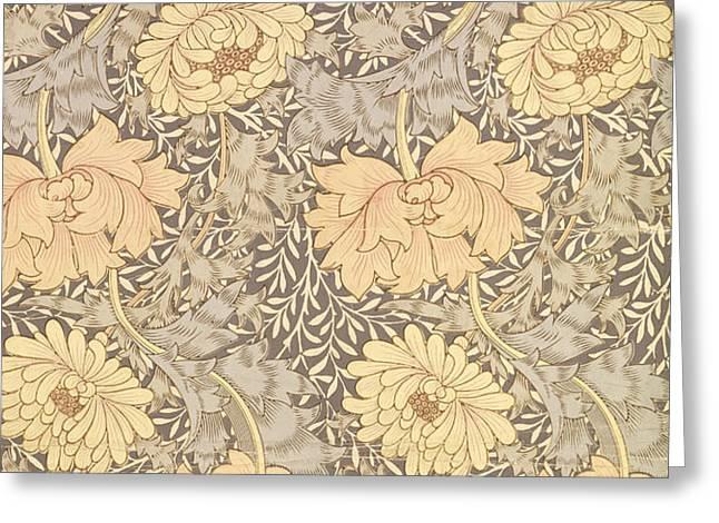 Chrysanthemum Greeting Card by William Morris
