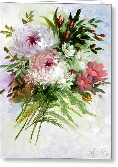 Flower Still Life Prints Greeting Cards - Chrysanthemums Greeting Card by  ILONA ANITA TIGGES - GOETZE  ART and Photography