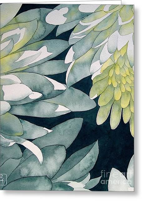 Chrysanthemums Greeting Card by Robert Hooper