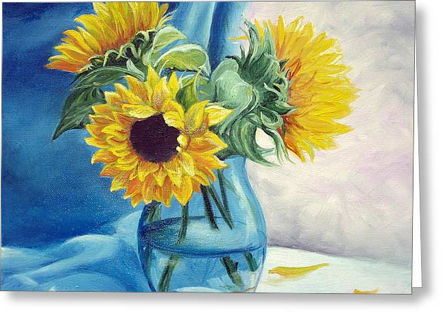 Chrysanthemums Greeting Card by Sorin Apostolescu