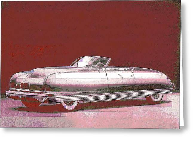 General Concept Digital Greeting Cards - Chrysler 50s Concept Greeting Card by John Madison