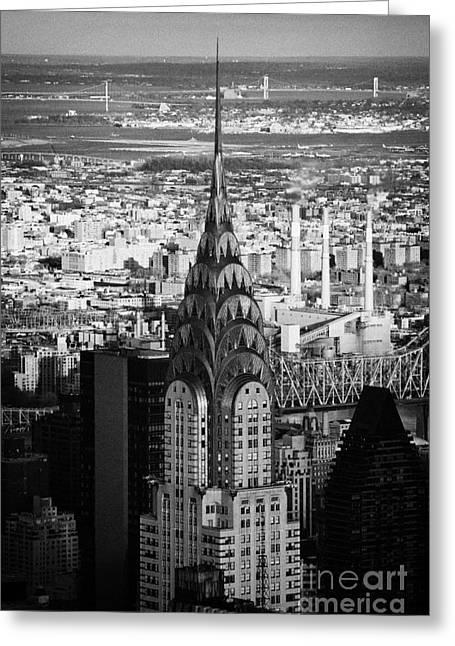 Chrysler Art Deco Building  New York City Skyline Greeting Card by Joe Fox