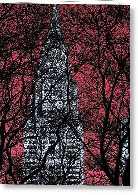 Bryant Park Greeting Cards - Chrysler Building 8 Greeting Card by Andrew Fare